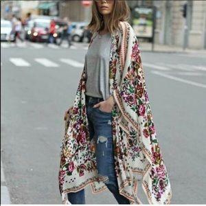 Figleaffashion Sweaters - Fig Leaf Fashion Chiffon Maxi BOHO Kimono Duster